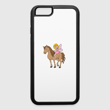 Gift Funny Funny Cool Cute Horse Riding Rider - iPhone 6/6s Rubber Case
