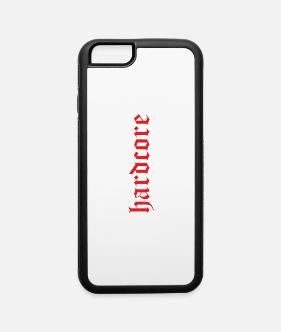 Gang iPhone Cases - Hardcore hoch - iPhone 6 Case white/black