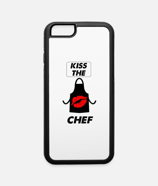 Lazy iPhone Cases - kiss the chef - iPhone 6 Case white/black