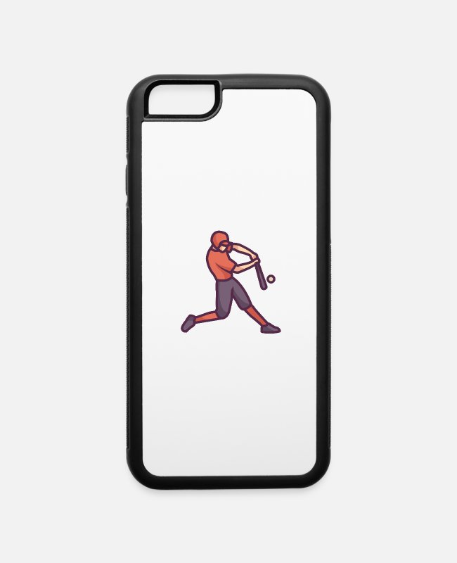 Stand iPhone Cases - Baseball Player - iPhone 6 Case white/black