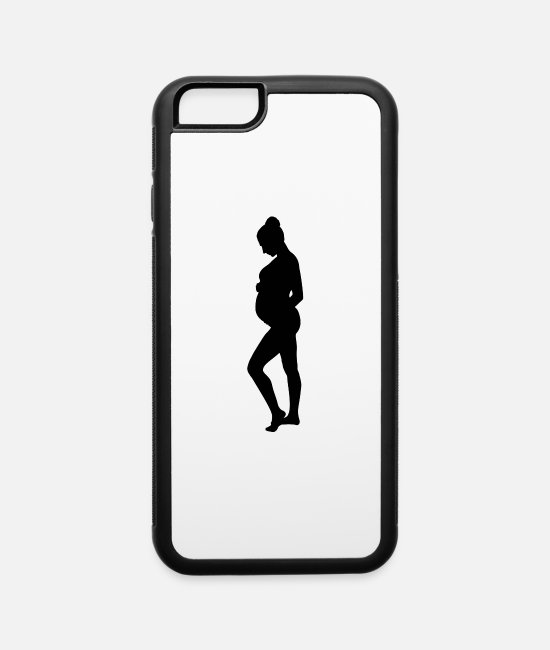 Pregnancy iPhone Cases - Pregnant Woman - iPhone 6 Case white/black