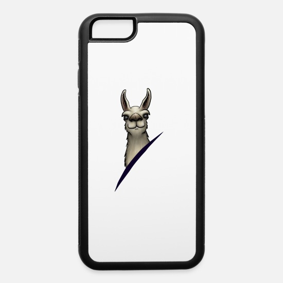 Birthday iPhone Cases - cute Lllama Alpaca staring provocative love gift - iPhone 6 Case white/black