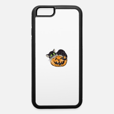 Pet Retro Vintage Grunge Style Cat Halloween - iPhone 6/6s Rubber Case