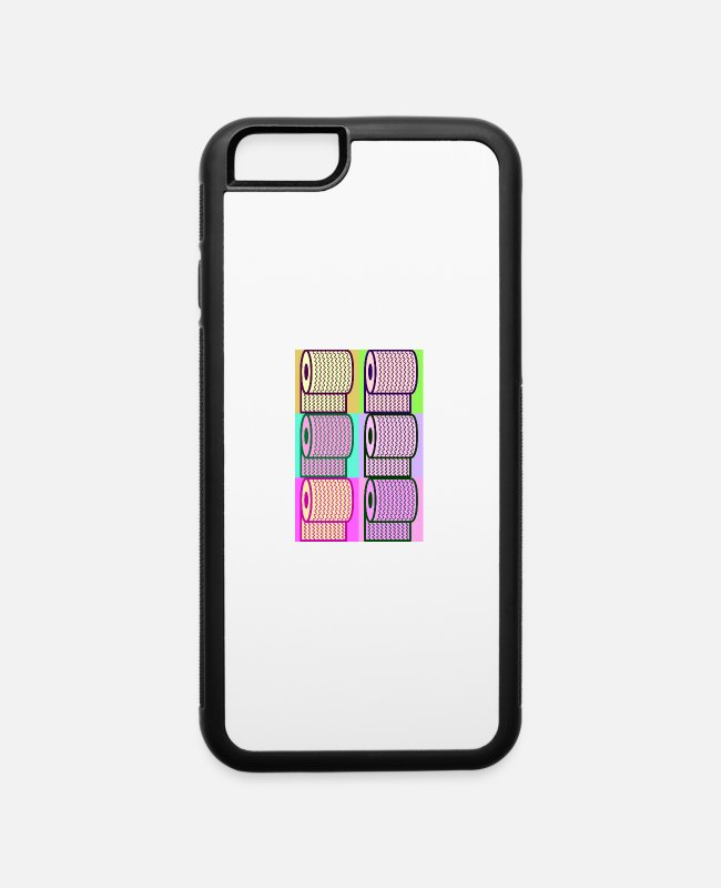Artist iPhone Cases - Toilet paper - iPhone 6 Case white/black