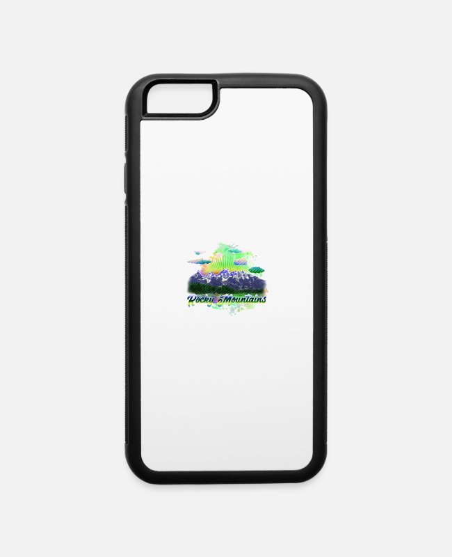 Mountains iPhone Cases - rocky mountains 4 j - iPhone 6 Case white/black