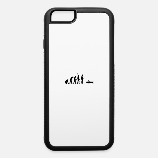 Monkey iPhone Cases - Evolution grasshopper - iPhone 6 Case white/black