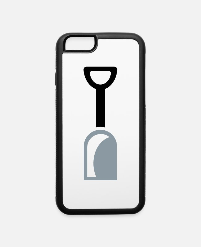 Excavator iPhone Cases - shovel tool - iPhone 6 Case white/black