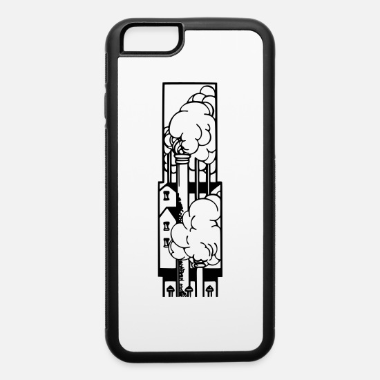 Factory iPhone Cases - Industrial scene 2 - iPhone 6 Case white/black