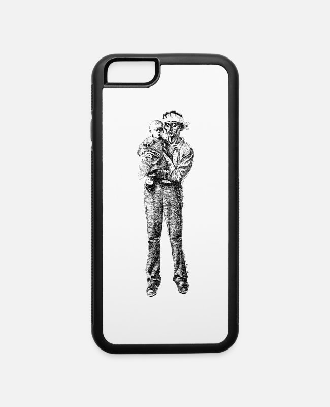 Potent iPhone Cases - Poor Dad and Kid - iPhone 6 Case white/black