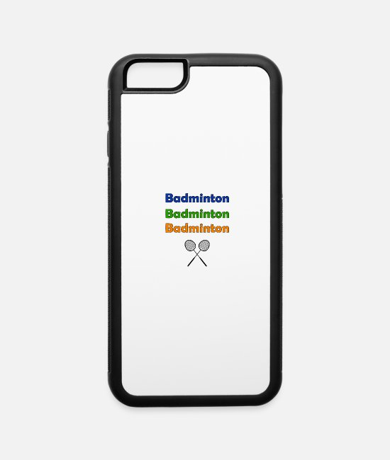 Sporty iPhone Cases - Badminton - iPhone 6 Case white/black