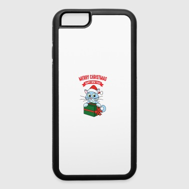 Merry Christmas Xmas Gifts Cat Kitten - iPhone 6/6s Rubber Case