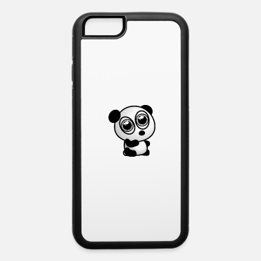 Asian Cute panda motif with big big eyes - iPhone 6/6s Rubber Case