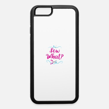 Sew what? with scissors and needle thread - iPhone 6 Case