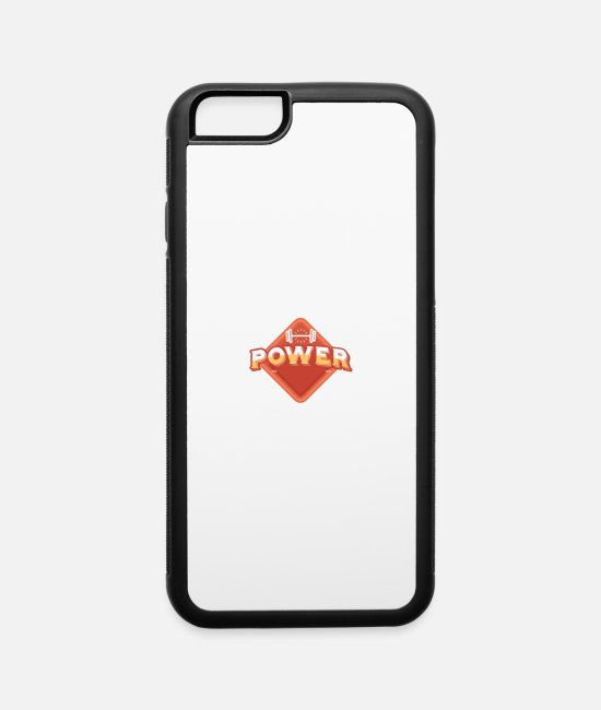 Training iPhone Cases - POWER FITNES - iPhone 6 Case white/black