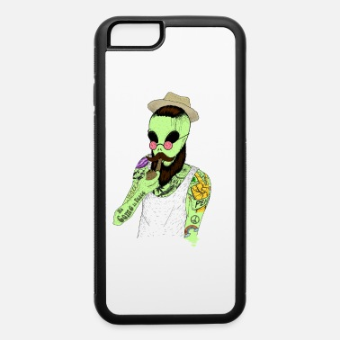 Folklore Cool Hipster Alien Vintage Beard Pipe Guy Tattoo - iPhone 6 Case