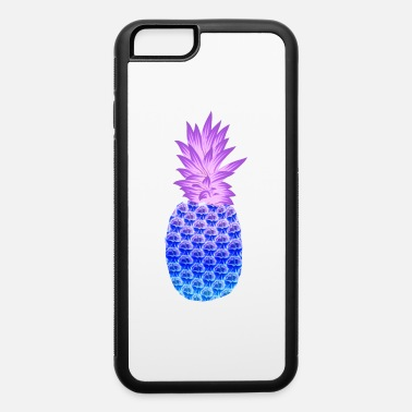 Acrylic Pineapple Hawaiian Fruit Purple Blue Artistic - iPhone 6 Case