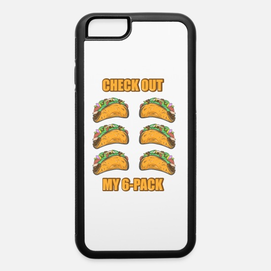 Work Out iPhone Cases - Men's Taco Six Pack Abs Funny Tacos Summer Body - iPhone 6 Case white/black