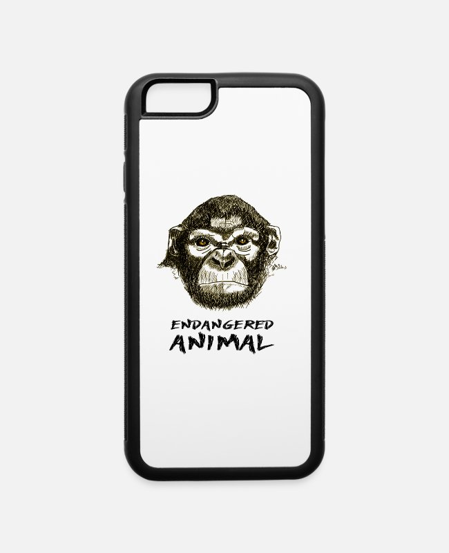 Mammal iPhone Cases - Endangered Animal - iPhone 6 Case white/black