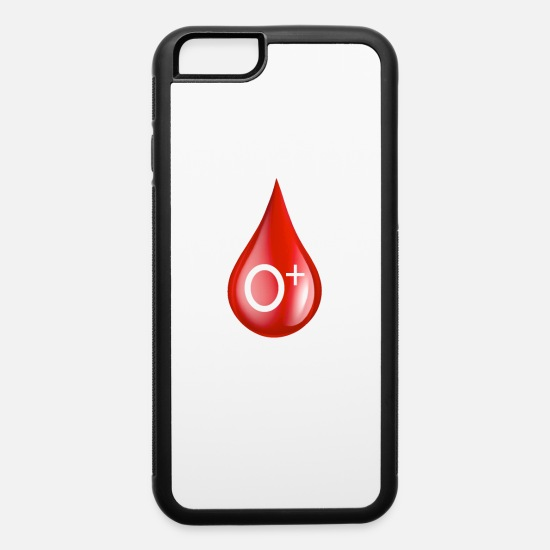 Studies iPhone Cases - O Positive Blood Type O+ Donor Donate Blood - iPhone 6 Case white/black