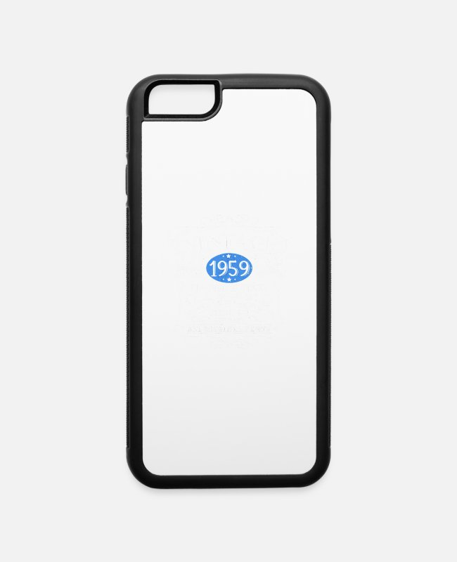 Birthday Greeting iPhone Cases - Vintage 1959 60th Birthday - iPhone 6 Case white/black