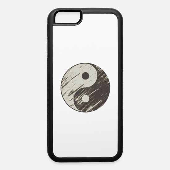 Chi iPhone Cases - Yin Yang Black White Symbol Good Bad Balance - iPhone 6 Case white/black