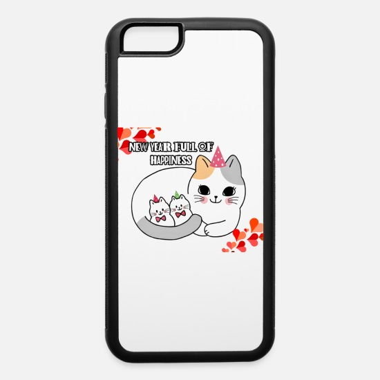 Year iPhone Cases - New Year full of Happiness - iPhone 6 Case white/black