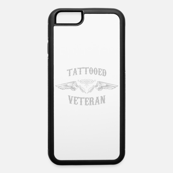 Retirement iPhone Cases - Tattooed Veteran Inked Tattoo Statement - iPhone 6 Case white/black