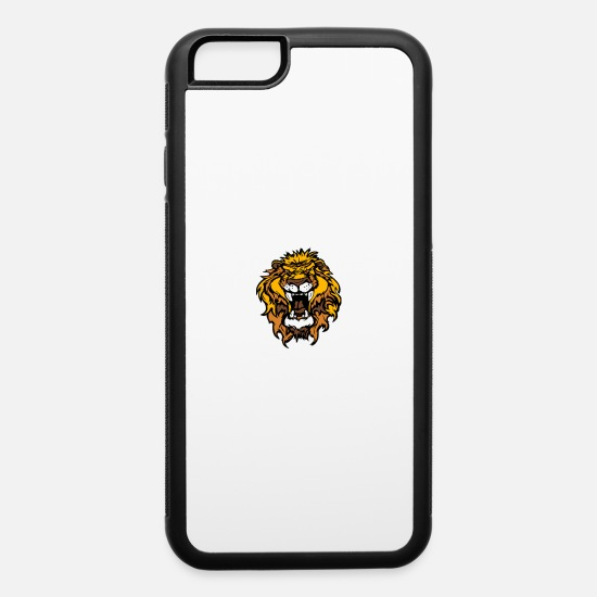 Lion iPhone Cases - Lion Graphic - iPhone 6 Case white/black