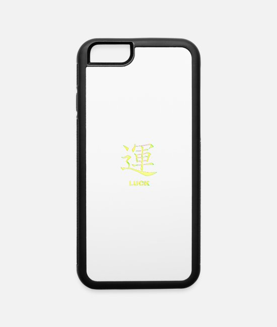 Quote iPhone Cases - Luck - iPhone 6 Case white/black