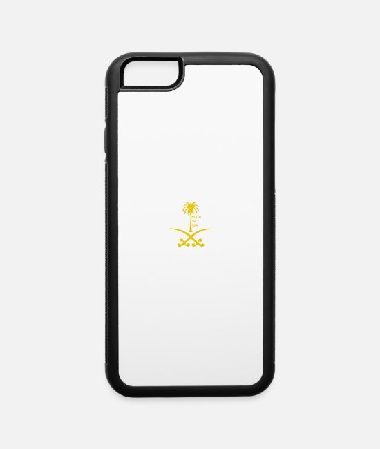 Saudi Arabia iPhone Cases - Emblem of Saudi Arabia - iPhone 6 Case white/black