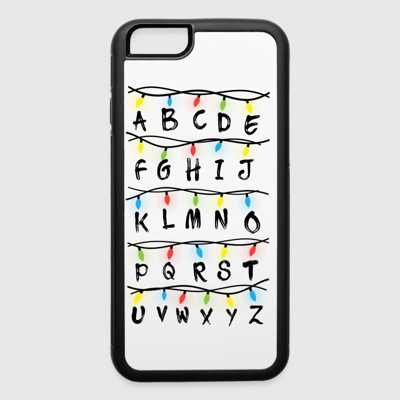 Alphabet with Christmas Lights | Phonecase - iPhone 6/6s Rubber Case