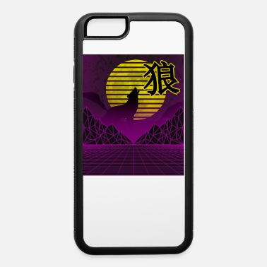 Cosplay Vaporwave cyberpunk Wolf howling at the moon with - iPhone 6 Case
