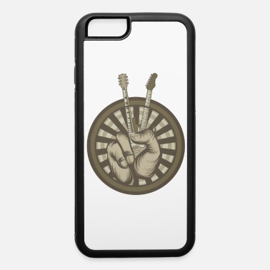 Hand Symbol Peace Sign Rock Bank Guitar Hand Musician - iPhone 6 Case