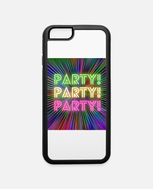 Happiness iPhone Cases - Party! Party! Party! - iPhone 6 Case white/black