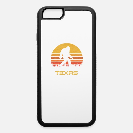 Bigfoot iPhone Cases - Bigfoot Texas State Sasquatch Yeti Believer - iPhone 6 Case white/black