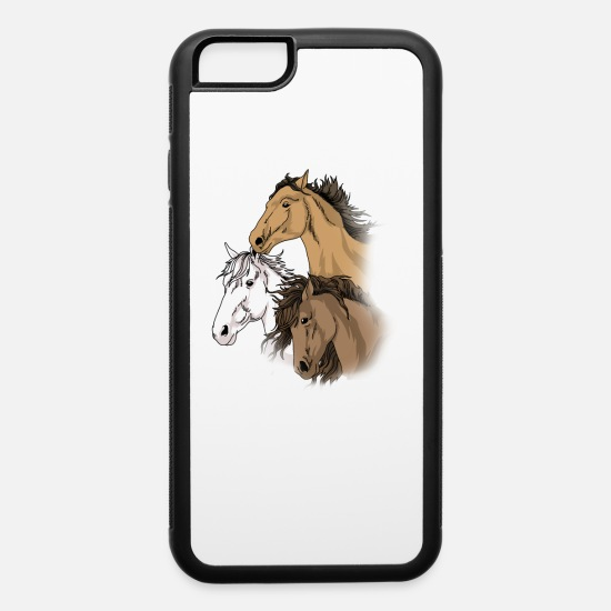 Hor iPhone Cases - Horse Gifts For Girls 10-12 Love Riding Horse - iPhone 6 Case white/black