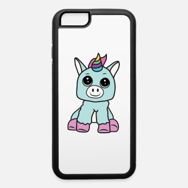 Stuffed Animal Baby Unicorn Stuffed Animal Blue and Purple - iPhone 6 Case