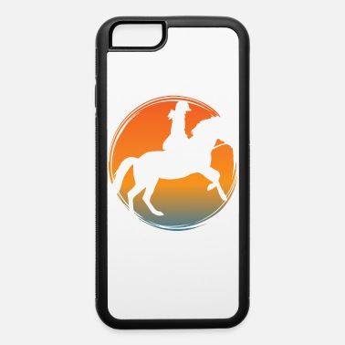 Cartoon Film Horse riding on horse farm with rider - iPhone 6 Case