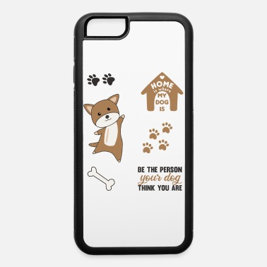 Set Dog Brown Puppy Paws Cute Sticker Pack - iPhone 6 Case