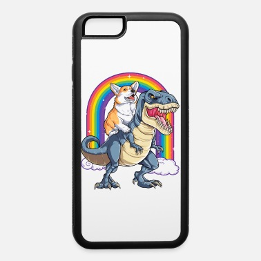 Corgi Riding Dinosaur T rex Shirt Funny Rainbow - iPhone 6 Case
