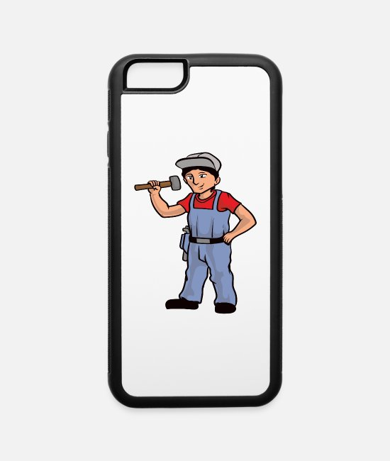 Hobbyists iPhone Cases - Construction Worker - iPhone 6 Case white/black