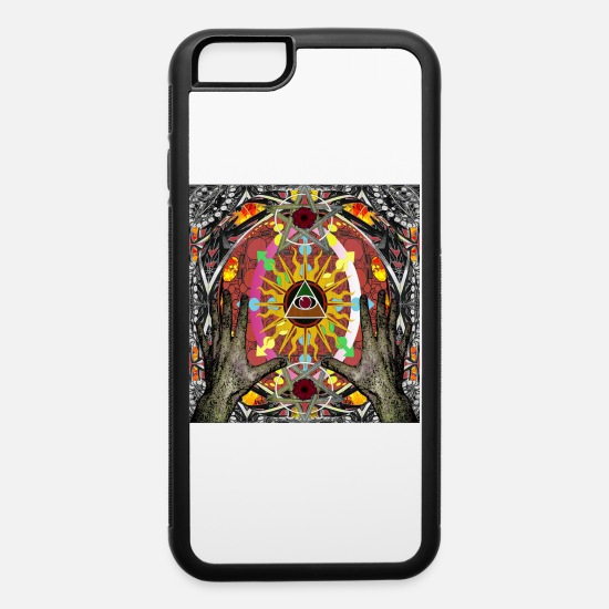 Sun iPhone Cases - NEW AGE CONFUSION 1 - iPhone 6 Case white/black