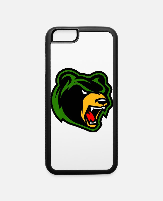 Bear Logo iPhone Cases - Bear Logo Samsung Case - iPhone 6 Case white/black
