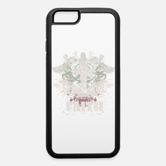 Distressed iPhone Cases - Faith Heavenly Angel - iPhone 6 Case white/black