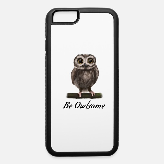 Owl iPhone Cases - Uhu Eule Owl - be owlsome (awesome) - iPhone 6 Case white/black