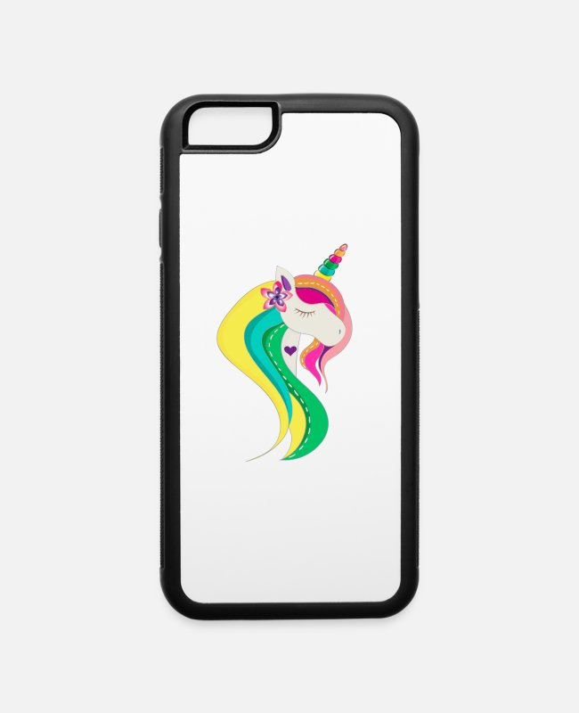 Architect iPhone Cases - unicorn face - iPhone 6 Case white/black