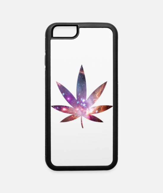 420 iPhone Cases - Pot Leaf - Cosmic Texture - iPhone 6 Case white/black