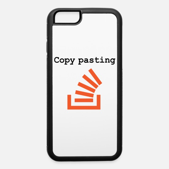 Copy paste Programmer from Stack Overflow iPhone 6/6s Rubber Case -  white/black