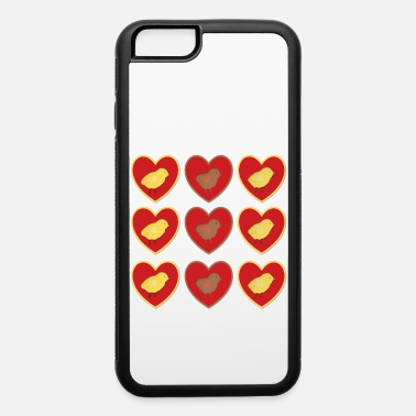 Peep Chicks in Hearts - iPhone 6/6s Rubber Case