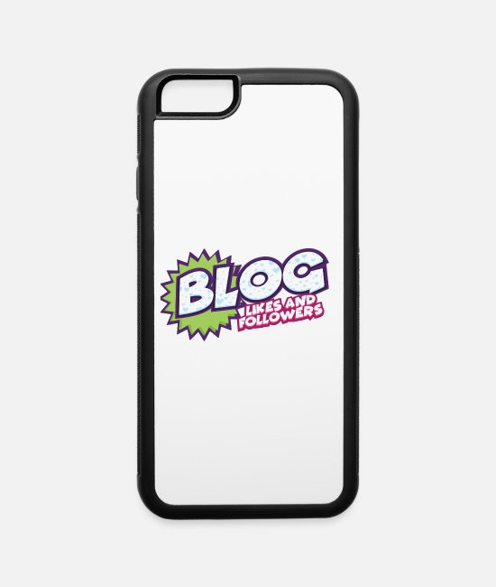 Site iPhone Cases - Blog Likes And Followers Internet Blogger Media - iPhone 6 Case white/black